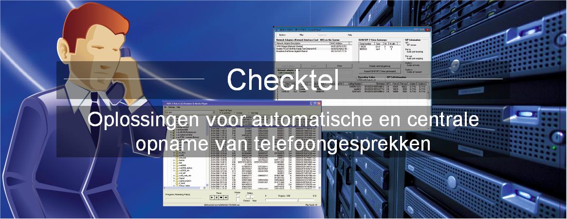 Gespreksopname software van Checktel